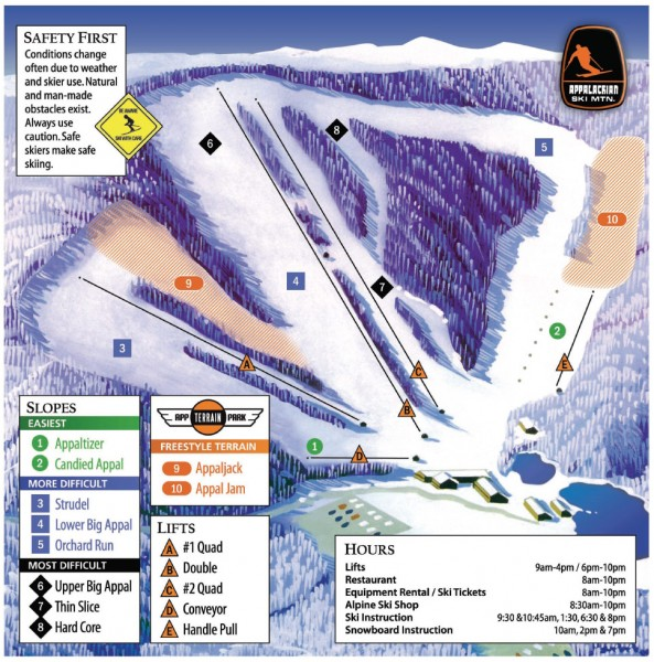 Appalachian Ski Trail Map