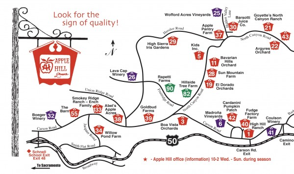 Apple Hill tourist map