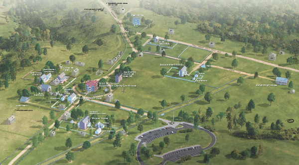 Fullsize Appomattox Court House National Historical Park map