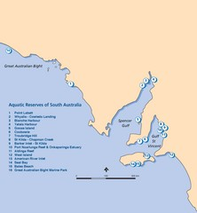 Aquatic Reserves of South Australia Map