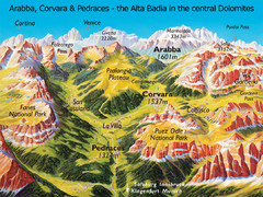 Arabba Corvara Pedraces Summer Map