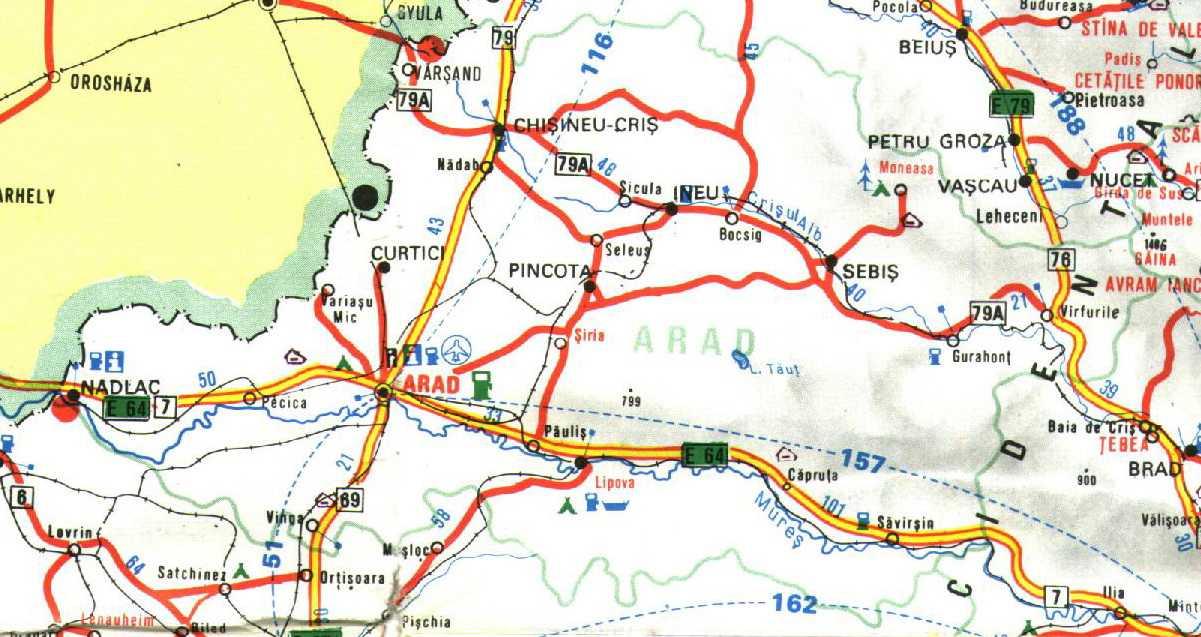 Arad Map Arad Romania mappery
