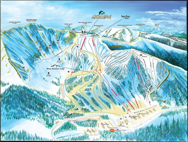 Arapahoe Basin Frontside Ski Trail Map