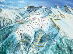 Arapahoe Basin Montezuma Bowl Ski Trail Map