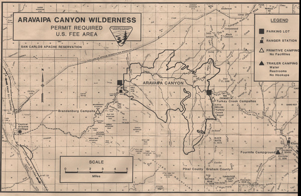 Aravaipa Canyon Map