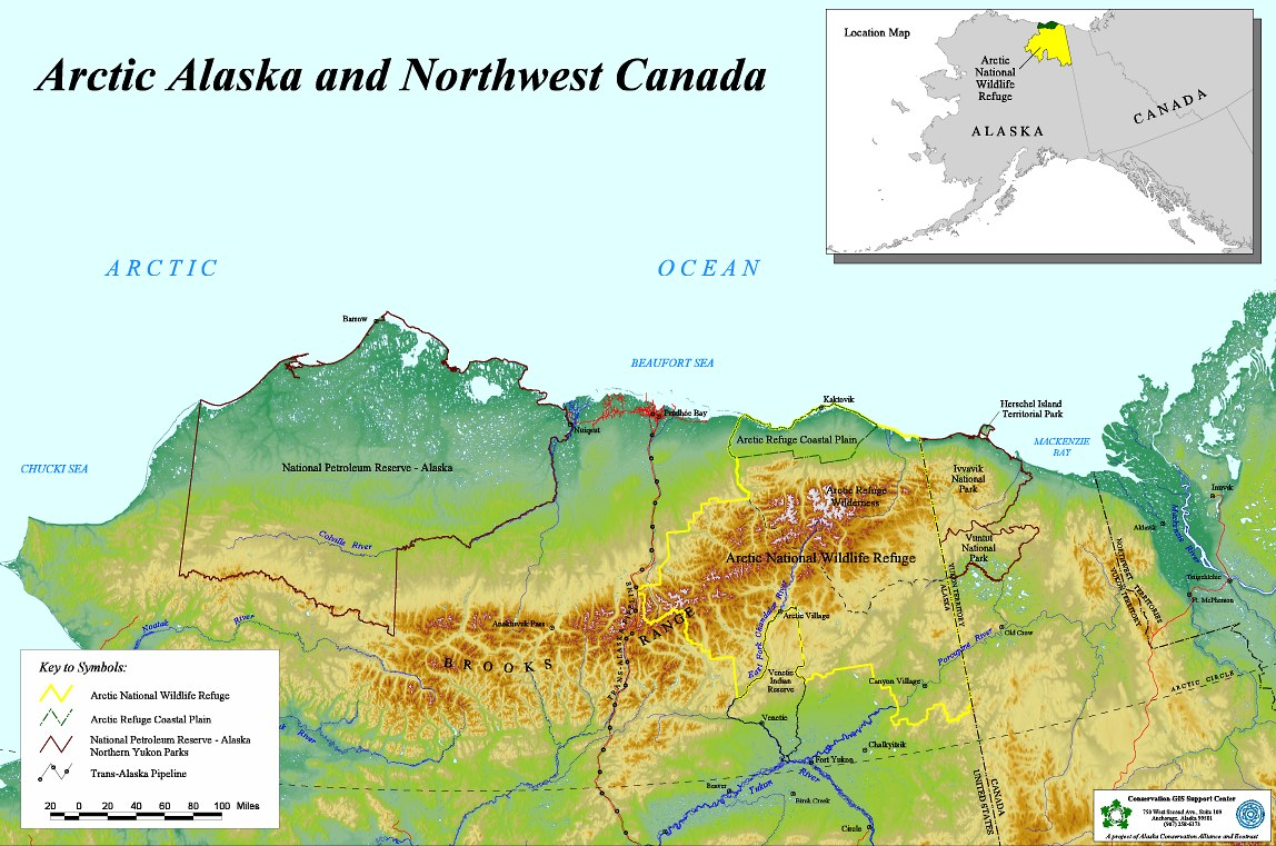 Arctic Alaska and Northwest Canada Map Northern Alaska US mappery