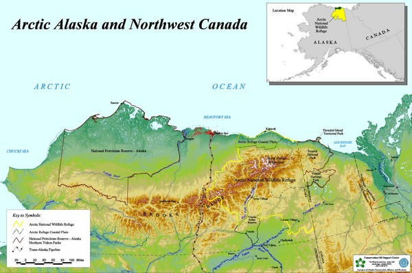 Arctic Alaska And Northwest Canada Map Northern Alaska US Mappery - Map of canada and alaska