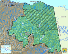 Arctic National Wildlife Refuge Boundary Map