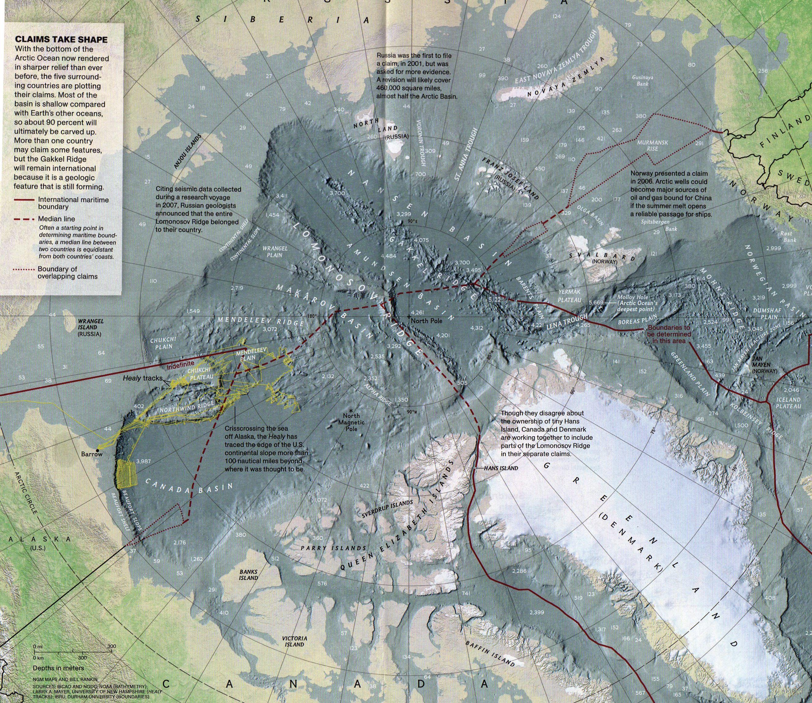 Arctic Ocean Floor Map   Arctic Ocean U2022 Mappery