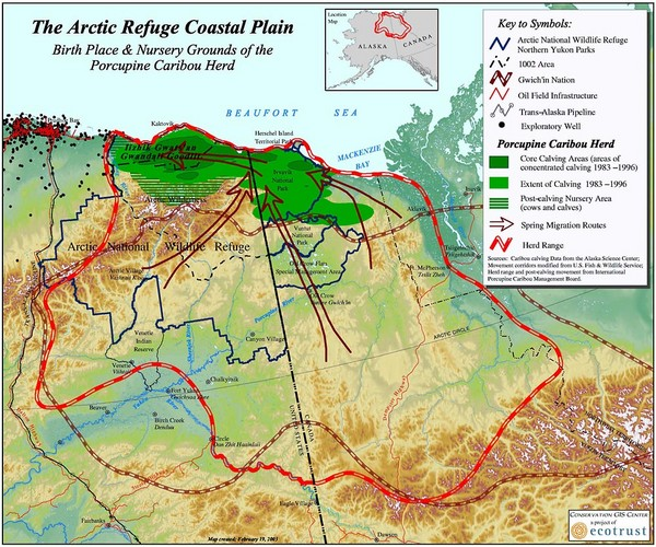 Arctic Refuge Coastal Plain Map