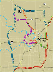 Area around Kansas City Road Map