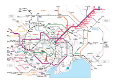Areas Surrounding Ikebukuro, Japan Guide Map