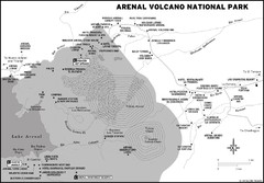 Arenal Volcano National Park Map