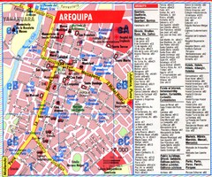 Arequipa Tourist Map
