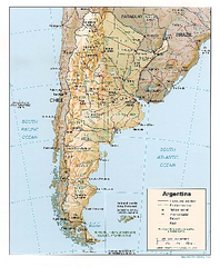 Argentina Relief Map