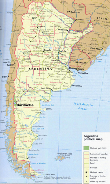 Argentina Tourist Map Argentina Mappery - Argentina map cities