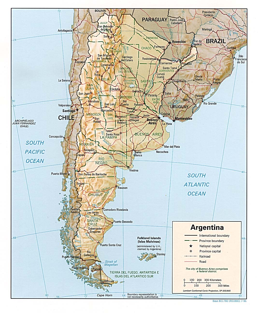 Argentina Tourist Map Argentina mappery – Tourist Map of Argentina