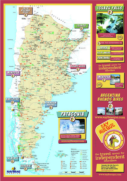 Argentina Tourist Map Argentina Mappery - Argentina highlights map