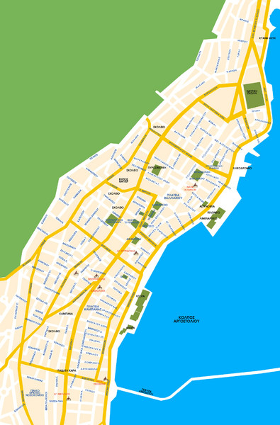 Argostoli City Map