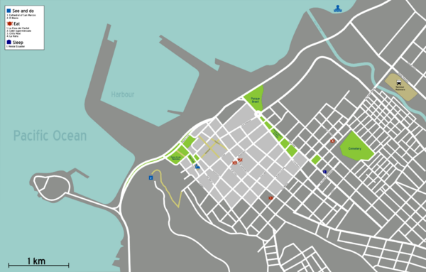 Arica Tourist Map