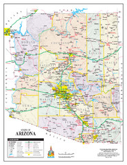 Arizona State Road Map