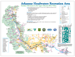 Arkansas Headwaters Recreation Area map