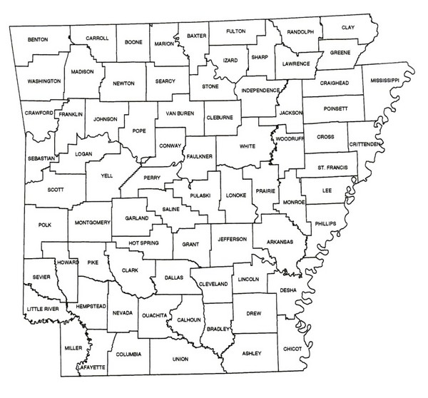 Arkansas Historical County Map - arkansas • mappery on map of transportation, ar counties, map of scott, map of johnson, ark counties, map louisiana counties, map of drew, map of cross, map showing counties in arkansas, arkansas state map with counties, map florida counties, map california counties, map of arizona wildfires today, map kentucky counties, map mississippi counties, map of little river, map of louisiana parishes, map arkansas counties by population, map of white, map illinois counties,