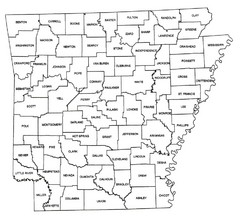 Arkansas Historical County Map