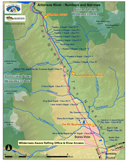 Arkansas River Numbers and Narrows Rafting Map