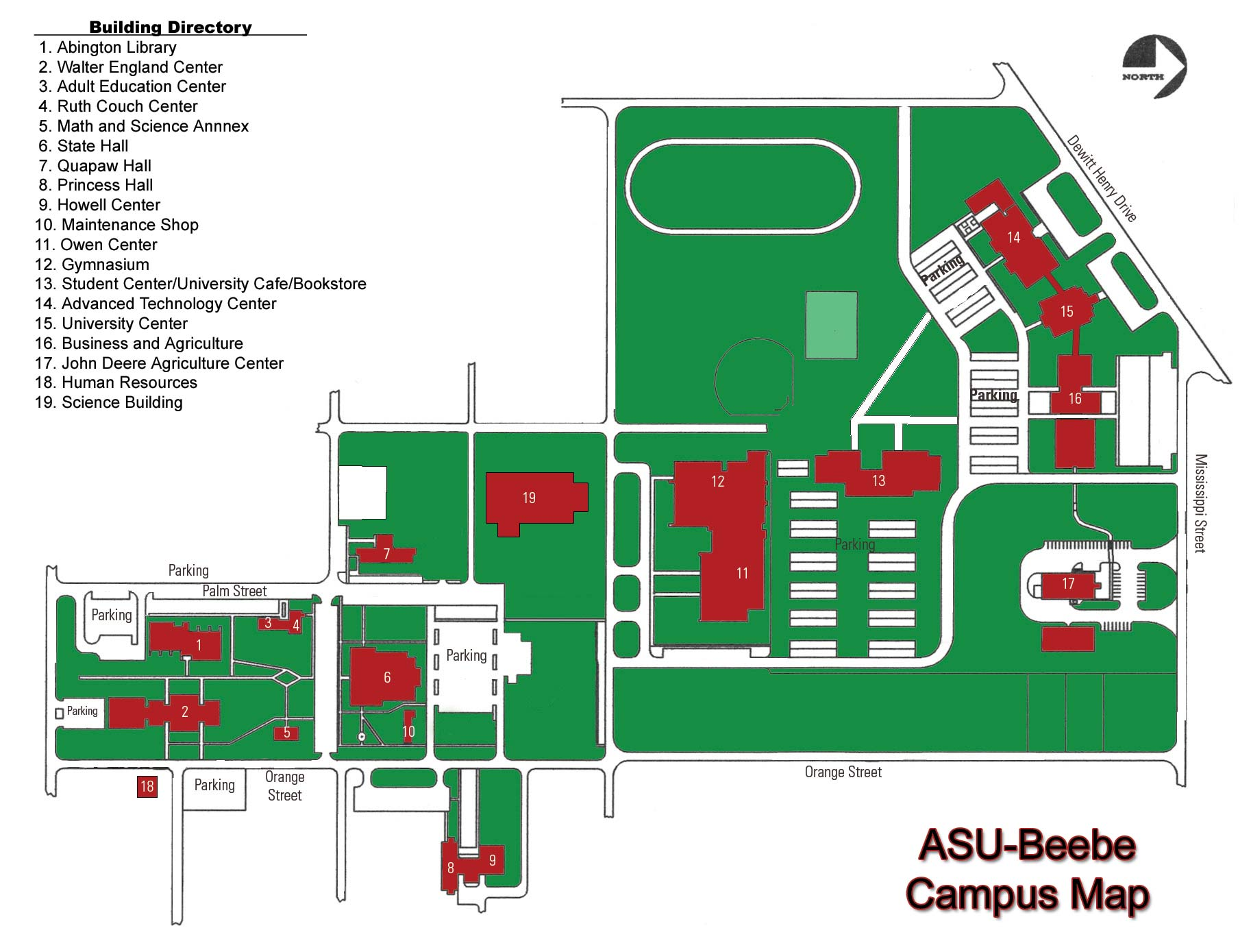 University beebe cus map see map details from asub edu created 2007