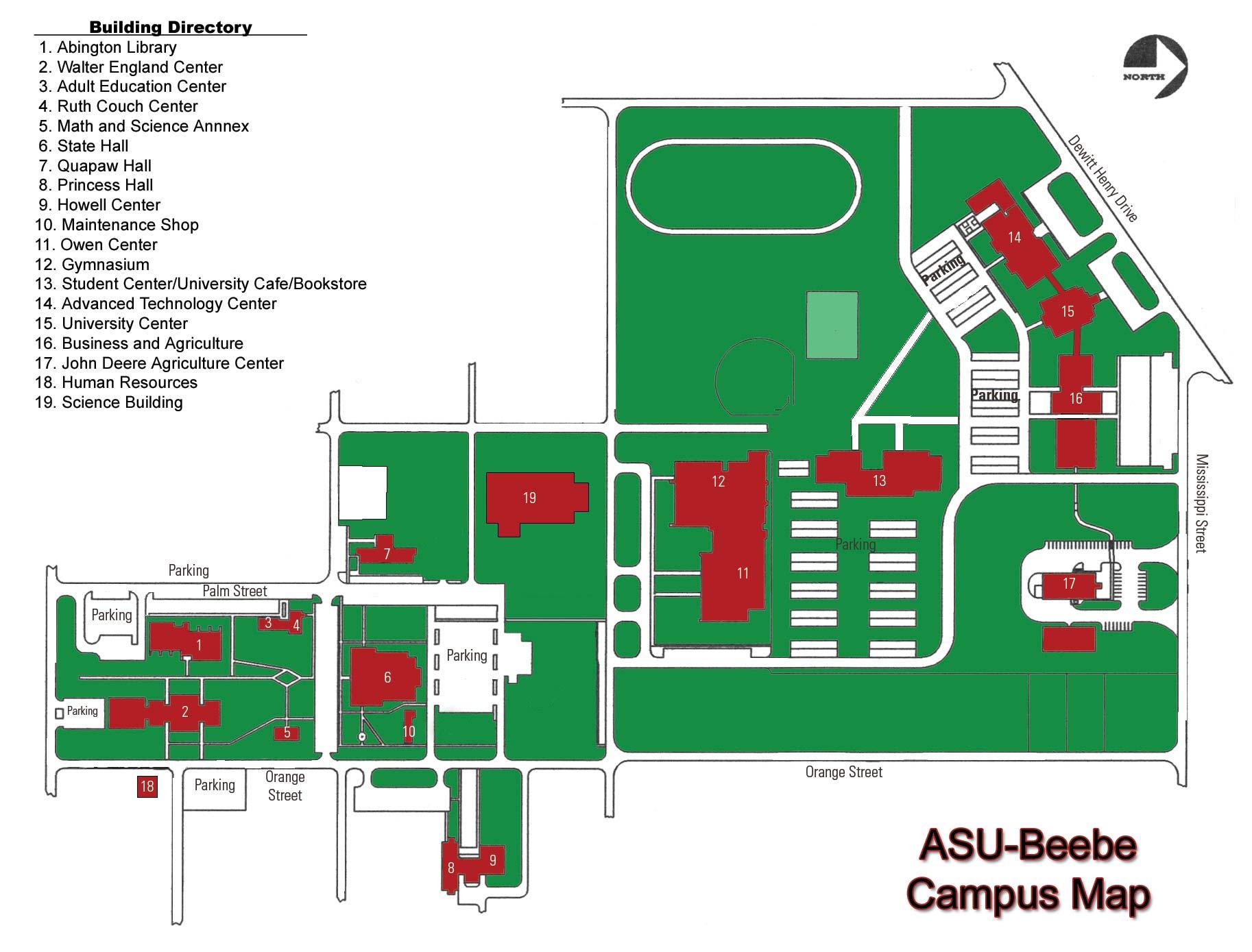Arkansas State University Beebe Campus Map   1000 Iowa Street