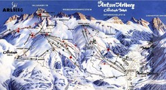 Arlberg – St Anton Ski Trail Map
