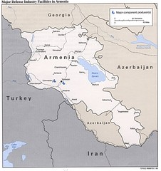 Armenia Defense Facilities Map