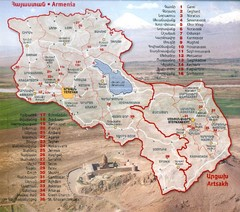 Armenia and Nagorny Karabakh Map