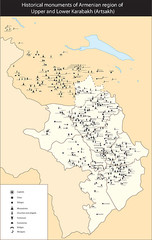Armenian Monuments of the Karabakh Map