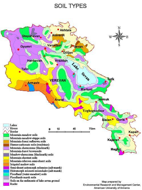 Armenian soil types Map mappery