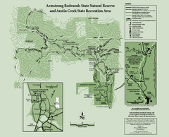 Armstrong Redwoods State Natural Reserve Map and...