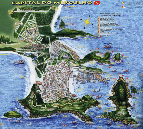 Arraial do Cabo Tourist Map