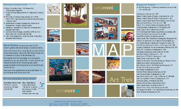 Art Trek Tour Map, Santa Monica, California