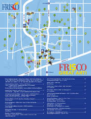 Art in Frisco, Texas Map