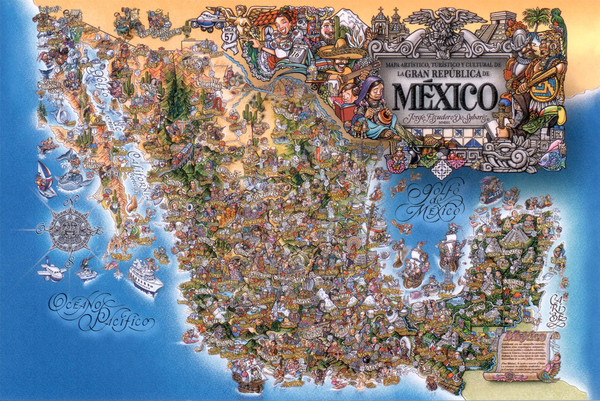 Mexico maps mappery – Tourist Attractions Map In Mexico