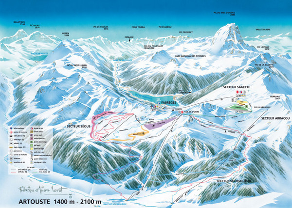 Artouste Ski Trail Map