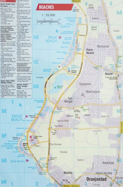 Aruba Beaches Map