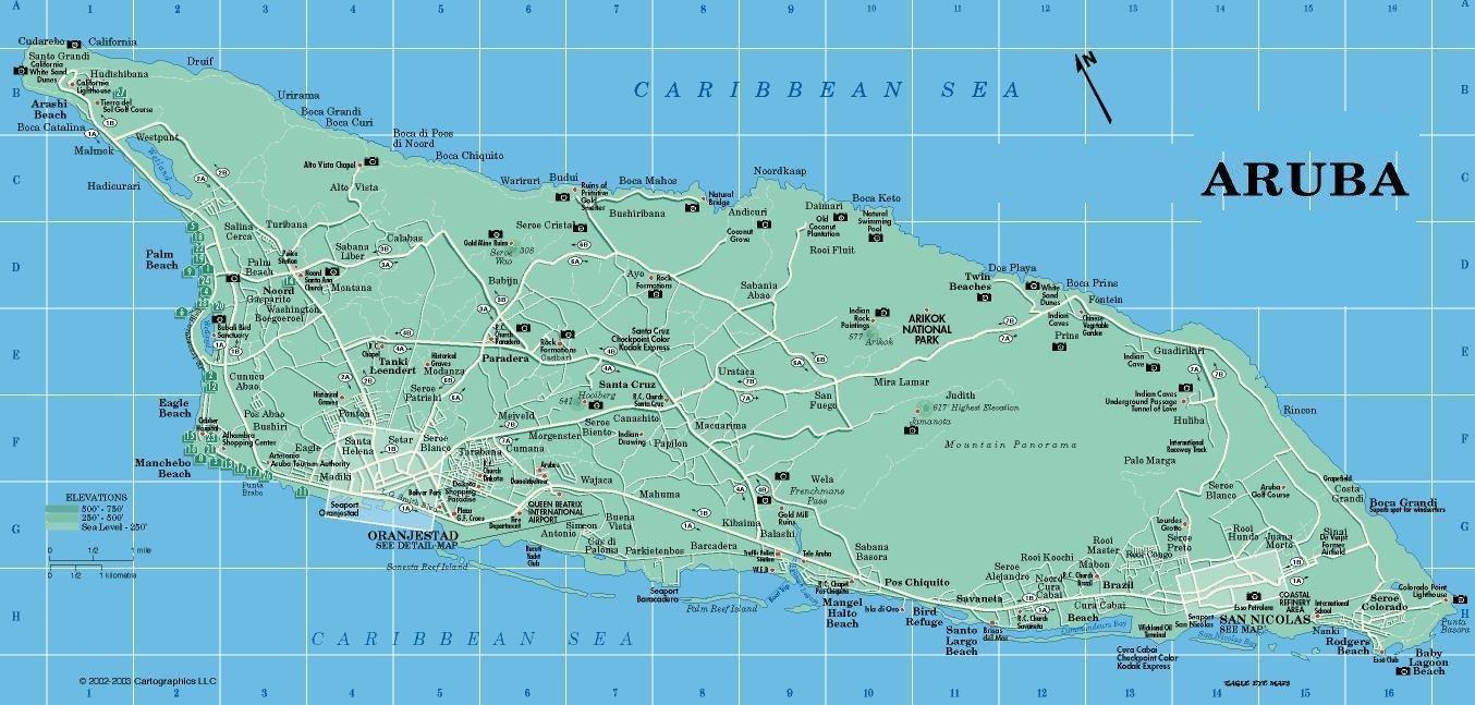 Aruba Map Mappery