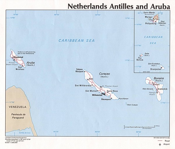 Aruba Tourist Map Aruba mappery