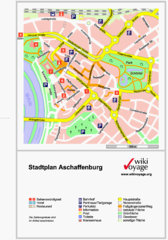 Aschaffenburg Tourist Map