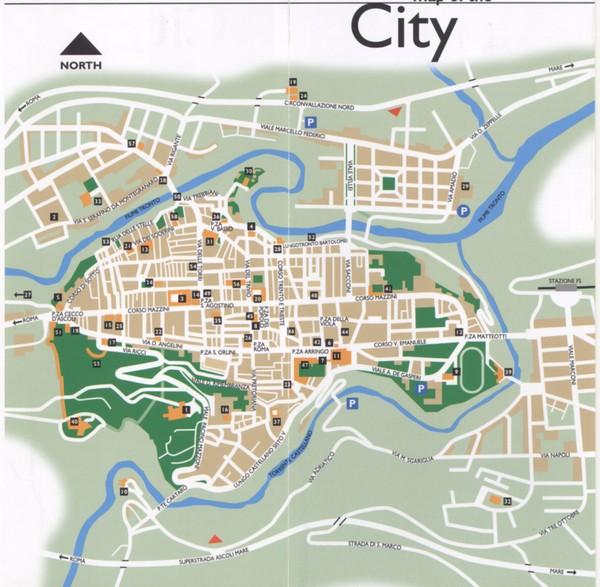 Ascoli Piceno centro Map Ascoli Piceno Italy mappery