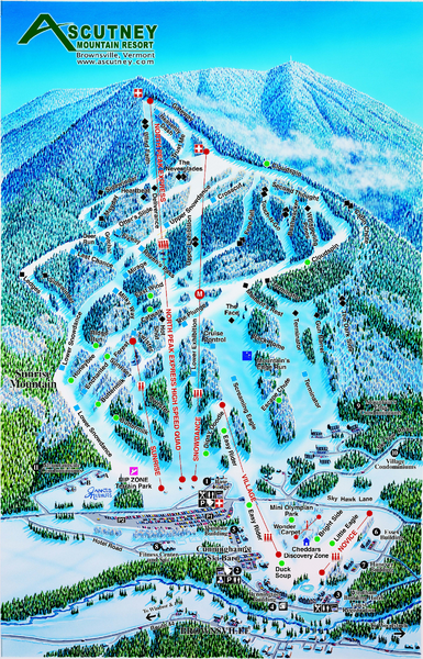 Ascutney Mountain Ski Trail Map 2006-07