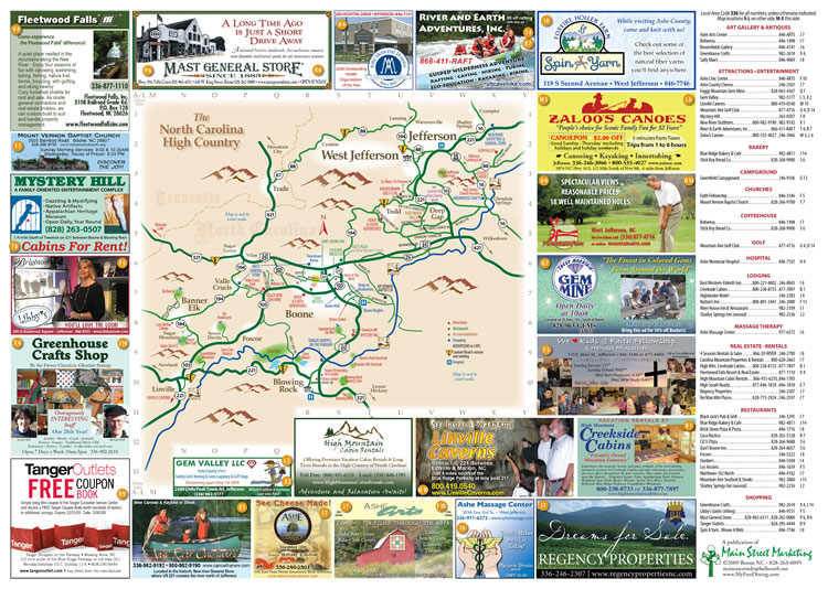 Ashe County Attractions Map Ashe County Nc Mappery