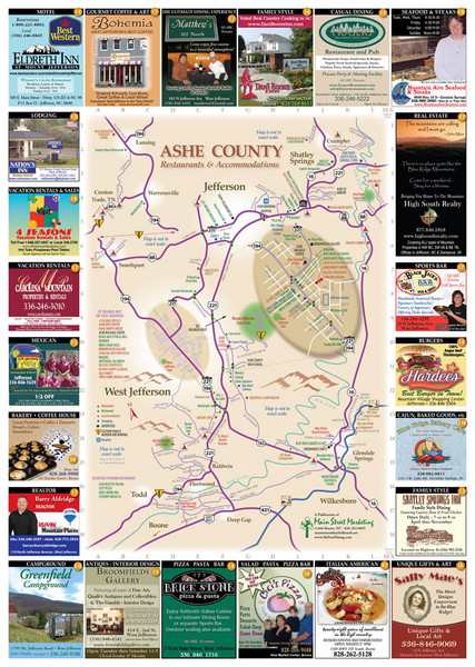 Ashe County Restaurant Map Ashe County Nc Mappery